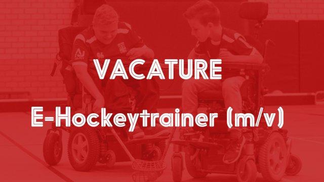 Vacature E-hockeytrainer