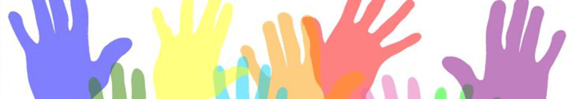handen in verschillende kleuren