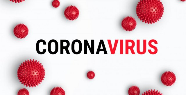 Afbeelding met tekst Coronavirus